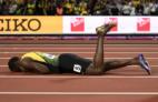 Usain Bolt s'est effondré